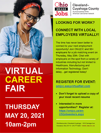 Virtual Career Fair flyer